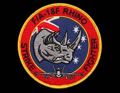 F/A-18F RHINO STRIKE FIGHTER Super Hornet patch from Pitch Black 2016, Darwin, Northern Territory, Australia. (Michael J. Barritt) Tags: pitchblack2016 raaf military fa18f rhino super hornet darwin northern territory australia