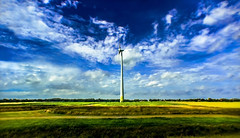 Wind turbine (Chacky) Tags: took it through window bus going from northern germany netherlands the location this photo was approximately near groningen moving by time i snap windmild windfield nature landscape canon canon600d color canel camera amsterdam nikon dslr