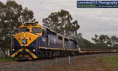 C502 & C508 at Dunedoo (Les 'LowndesJ515' Coulton) Tags: standardgauge coco artc australianrailwaytrackcorporation railset train upperhuntervalley c502 c508 cfcla chicagofreightcarleasingaustralia espee espeerailroadservices cclass diesellocomotive dunedoo