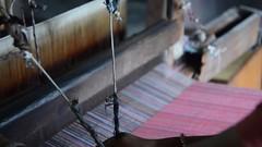 Feeling the Flow (www.WeAreHum.org) Tags: textile nepal thread bobbins gandhi tulsi ashram school for women kathmandu sowing weaving winds threads mechanical loom wood shuttles feet arts