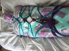 Cat's Kinky Toy- 2 (AgentDrow) Tags: mermaid zentai mummification encasement spandex