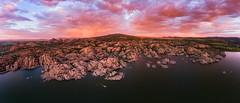 Watson-Lake-0184-Pano (Michael-Wilson) Tags: michaelwilson watsonlake sunset sunrise rainbow granitedells clouds storm lake pano panorama prescott arizona az djiphantom aerial drone phantom4