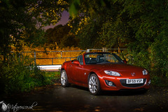 My MX5 (Alex Matravers) Tags: mx5 mazda miata lightpainting night nighttime dark red light coupe sony a7 kit lens