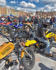 Colour... (Harleynik Rides Again.) Tags: colour color bikers hd salisburymag salisbury crowd harleynikridesagain