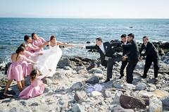 boda (Saucedo Fotografa) Tags: boda casamiento pareja playa ensenada damas de honor chambelanes traje vestido