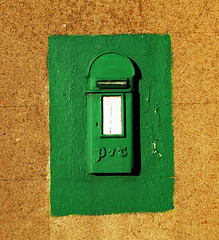 Irish Post Box (PM Kelly) Tags: post box postal mail green wall irish ireland new ross street abstract texture background paint bright wexford