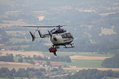 Rettungshubschrauber am Pferdskopf / Wasserkuppe 160814_112 (jimcnb) Tags: 2016 august wasserkuppe rhn hessen hubschrauber polizei helicopter dhheb