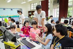DSC_0758 (roger528852momo) Tags: 2016           little staff person explore summer camp hokuzine ever worker china youth corps ying qiao elementary school arduino robot food processing workshop taipei taiwan roger huang roger528852momo