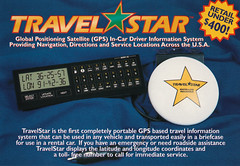 Travel Star GPS 80s ad postcard scan (Old_Things) Tags: travelstar gps vintage scan ces 1986 technology electronics mofoto oldthings postcard