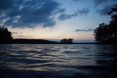 The calm before the storm (erika_stenros) Tags: sunset forest trees clouds colors blue landscape island night sky sweden water sea