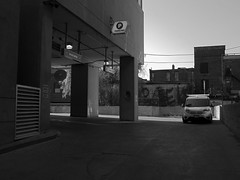 P is for Parking (geowelch) Tags: downtown toronto urbanfragments urbanlandscape blackwhite architecture buildings space panasoniclumixgx1