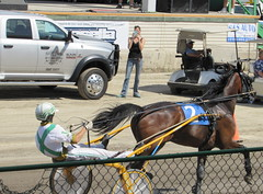 The Number 2 Horse Passes The Grandstand. (dccradio) Tags: malone ny newyork franklincounty franklincountyfair countyfair entertainment fun communityevent harnessracing horseracing horse horses sulky racing driver