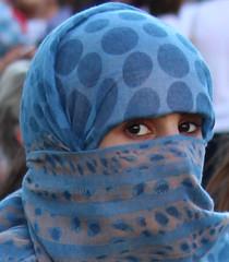 blue veil1 (niqabi_travel) Tags: niqab veil muslim lady women islam