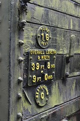 Moss numbers (feelpenny) Tags: metal sign black green moss bluebellrly bluebellrailway