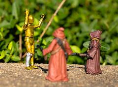 Hands Up, Don't Shoot! (atari_warlord) Tags: 375 actionfigure c3po droid hasbro jawa starwars