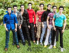 My 8 guys (astramaore) Tags: 16 astramaore rock ringmaster lukas maverick brunet handsome male model fulllips cheekbones chic beauty glamour summer team green grass integritytoys doll toy dollphotography
