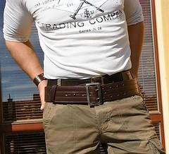 rr08 (armybelt007) Tags: sheriffbelt wideleatherbelt widebelt armybelt militarybelt beltfetish bulge armband leatherbelt camopants armystyle