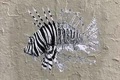 by ? (lepublicnme) Tags: france paris september 2016 streetart paste wheatpaste fish iphone apple