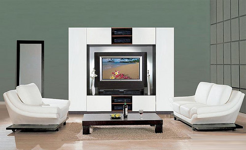 Modern White Wall Unit @ ContempoSpace.com