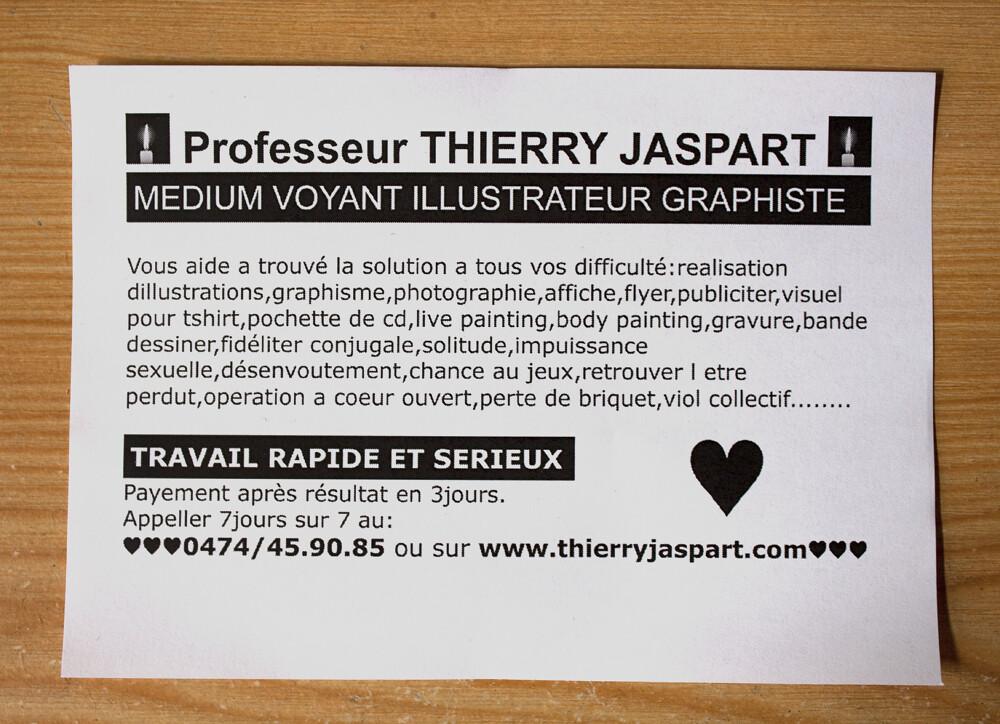 La Carte De Visite Du Pauvre Thierry Jaspart Andalltha Tags Fun Graphic