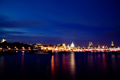 South Bank (Umbreen Hafeez) Tags: city uk blue light england london st thames architecture night buildings river dark twilight europe cityscape cathedral south bank pauls southbank hour gb thisphotorocks flickrtravelaward
