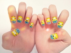 Minions (Ch de Unhas) Tags: blue yellow movie nail minios