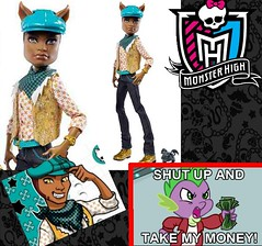 Clawd Wolf School's Out - PRESO! (Eilantha DamaIndaco) Tags: male werewolf wolf doll pack mattel lupomannaro clawd monsterhigh