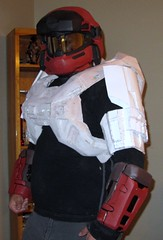 test fit with most of the upper body on (CaptainArcturus) Tags: costume cosplay halo armor reach grenadier