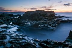 Labour Day Week in Bonavista #1 (bonavistask8er) Tags: ocean sunset sea water newfoundland nikon long exposure angle wide line shore bonavista d90