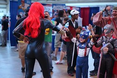 Young Captain American and Thor happily surrender to Black Widow Cosplay - Baltimore Comic-Con 2012 (Stephen Little) Tags: day2 costumes comics costume cosplay comicbook heroes cosplayer comiccon con avengers bcc daytwo cosplayers costumers costumeplay 50mmf17 minolta50mmf17 baltimorecomiccon minoltaaf50mmf17 minolta50mm sonya77 jstephenlittlejr slta77 sonyslta77 sonyslta77v sonyalphaslta77v bcc2012 baltimorecomiccon2012