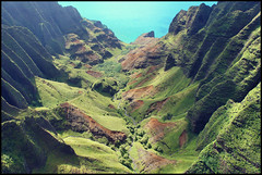 Hawaii - Napali Coast (kc_y0 (Away for a while)) Tags: from holiday green nature landscape photography hawaii coast view you photos 5 or sony helicopter kauai everyone lush napali napalicoast nex