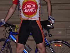 P6110049 (Jake Seven) Tags: bicycle pose cycling shiny cyclist crotch cycle jersey shorts spandex lycra bulge skintight