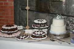 """Ruffle wedding cake and cake balls • <a style=""""font-size:0.8em;"""" href=""""http://www.flickr.com/photos/60584691@N02/7977185697/"""" target=""""_blank"""">View on Flickr</a>"""
