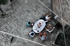 Somewhere Along The Line (Jobbys) Tags: cat relax lunch saveme6 deleteme10 dubrovnik washingline
