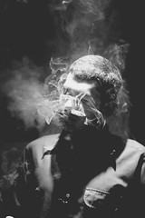 the haunting (Beatrice Zemann) Tags: blackandwhite digital smoke eerie smoking 50mmf14