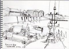 Retour de pêche (julietteplisson) Tags: sketch noiretblanc bateau noirmoutier croquis