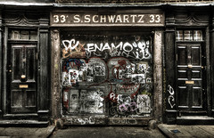 33A S. SCHWARTZ  33A (violinconcertono3) Tags: london landscapes flickr fineart cityscapes graffitti spitalfields gilbertandgeorge eastend fineartphotography davidhenderson fournierstreet london2012 sschwartz fineartphotographer londonphotographer 19sixty3 33afournierstreet 19sixty3com