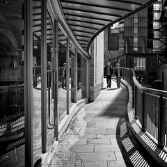 We come 1 (martinfowlie) Tags: street cambridge people blackandwhite lines fuji shadows curves faithless x100 wecome1