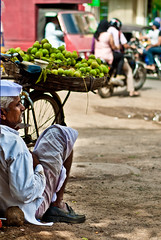336/365. As I Lay Waiting. (Anant N S) Tags: street old portrait india white man hat bicycle 50mm sad candid indian picture streetphotography cycle portraiture guava nikkor pune dhoti fruitvendor project365 portraitofastranger indianoldman nikond3000 lensor anantns thelensor anantnathsharma