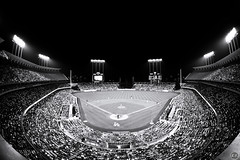 Dodger Baseball (EMIV) Tags: white black canon los angeles stadium sigma 15 fisheye 5d 28 dodgers
