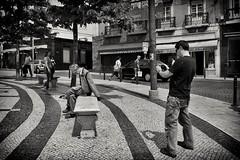 Street Photography (Fernando_PC) Tags: street men portugal blackwhite flickr downtown lisbon candid streetphotography s baixa seating x10 streetphotographer 500px eos7d fujifilmx10 fernandopc