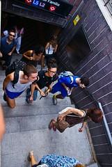 Sortint del metro (gemicr69) Tags: barcelona españa stairs spain metro sony catalonia catalunya alpha espagne barcellona cataluña escaleras barcelone escales espanya a300 catalogne dslra300 olétusfotos mygearandme mygearandmepremium joangarciaferre gemicr gemicr69