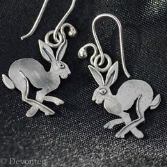 Couldn't resist this pair! (devonteg) Tags: macro silver nikon bokeh pair september handheld earrings 2012 odc hares nikkor105mm28gvrmicro d7000 ourdailychallenge annadeville