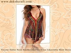 Backless Short Beach Dress (DakshCraft) Tags: fashion clothing summerdress apparel womensclothing girlsclothing shortdress summerclothing beachdress handkerchiefdress longviscosedress