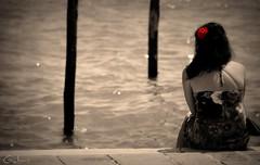 78 (Faraplictiseala) Tags: old city venice red italy reflection water hat river boat chair women san europa europe grand marco gondola venezia venetia gondolier canale venezzia