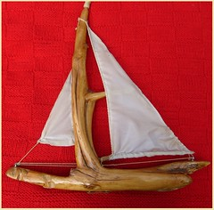 David's Home Made Sail Boat - 1983 (David_Cartwright's_Life) Tags: sailboat knitted