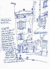Gordes Pharmacy (dessinauteur) Tags: illustration sketch drawing journal provence gordes illustratie journaling schets urbansketch
