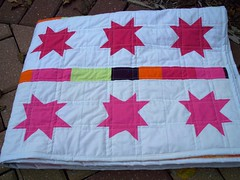 Pure elements star quilt (LASO Quilts) Tags: star artgallery wonky voile solid straightlinequilting pureelements lasoquilts