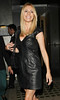 Tess Daly leaves Nobu Berkeley restaurant London, England