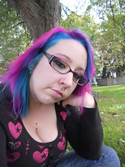 Day One Of 365 (rebelmarshmellow) Tags: hair outdoors manicpanichothotpink manicpanicatomicturquoise manicpanicpurplehaze